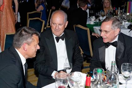 Gyles Brandreth takes a breather between presenting awards