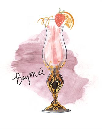 Design for Beyoncè-inspired cocktail glass