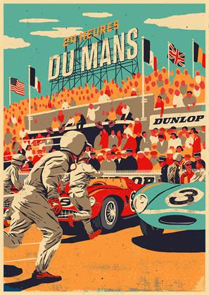 Dunlop at Le Mans in the 1950s