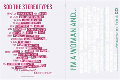'I'm a Woman And...' by Wieden + Kennedy and feminist website Vagenda