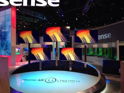 The 55-inch, connected 4K TV from Hisense