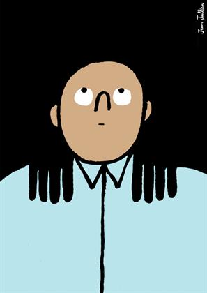 'Digging into the shoulders' by Jean Jullien