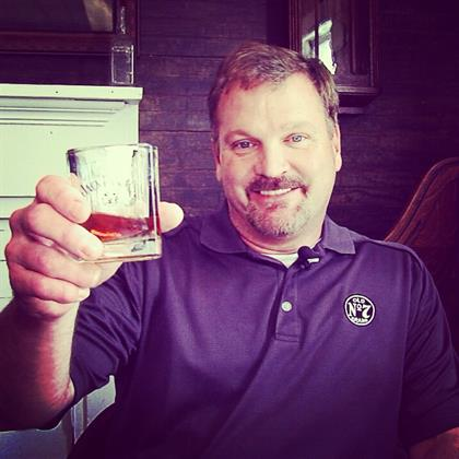 Jack Daniel's master distiller Jeff Arnett raises a glass to 'Mr Jack'