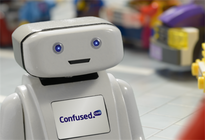 Confused.com's Brian the Robot recreated in Lego