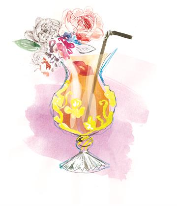 Design for Paloma Faith-inspired cocktail glass
