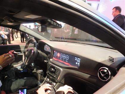 The Mercedes' QNX operating system
