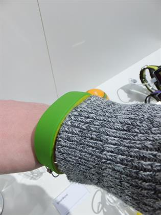 Sony's wearble tech wristband