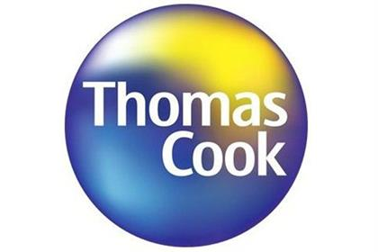 In 2001, following the acquisition of Thomas Cook by Condor & Neckermann, a new logo was introduced, combining the Thomas Cook name with the blue and yellow (representing sea and sun)