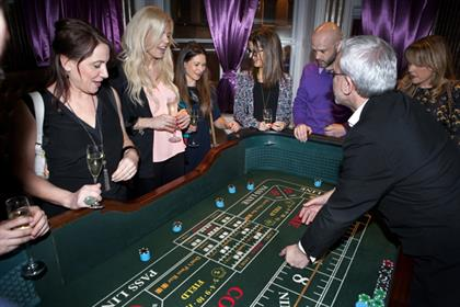 Attendees were taught how to place blackjack and craps