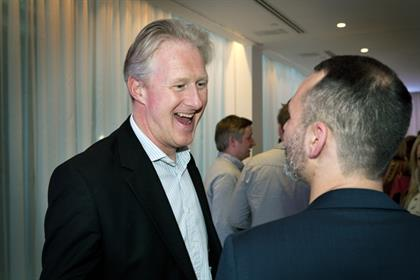 What a wag. Havas' Russ Lidstone shares a joke with 18 Feet & Rising's Jonathan Trimble