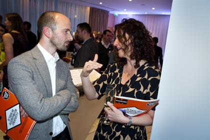 JKR's James Joice listens up as Marketing columnist Helen Edwards holds court