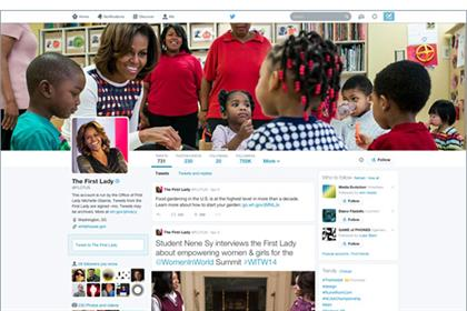 Michelle Obama's new look Twitter profile