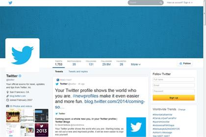 Twitter's new look Twitter profile