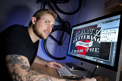 Carl Davis, founder The Crafty Type - graphic and text design