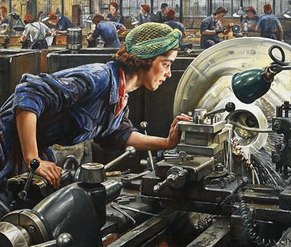 Dame Laura Knight, Ruby Loftus screwing a Breech-ring, 1943, Imperial War Museums 2