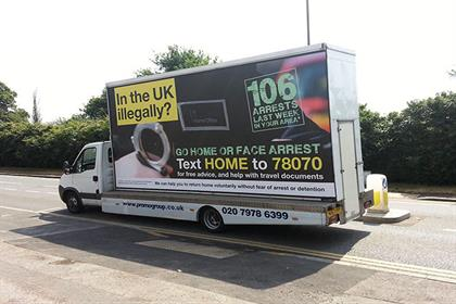 4. The Government's 'go home' ad van