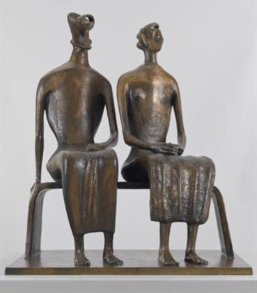 Henry Moore, King and Queen, 1952ÔÇô3, cast 1957, Tate