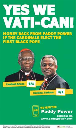 8. Paddy Power, 'yes we Vati-can!'