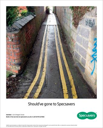 4. Specsavers, 'should've gone to Specsavers'