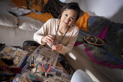 Vivian Choi, project manager, Yahoo - jewellery making