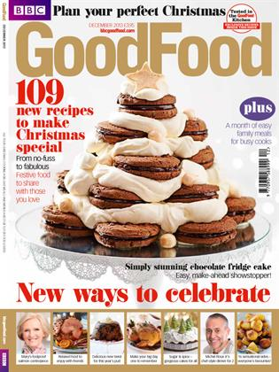 BBC Good Food is known for its fail-safe feasts. This year the Immediate Media published magazine's simple cover design draws the eye straight to a centerpiece dessert.
