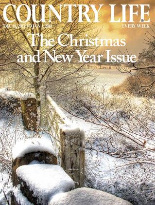 Snowy scenes cover on the Christmas and New Year issue of weekly Country Life, also published by IPC Media.