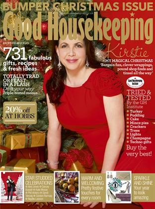 Good Housekeeping sticks with its traditional celebrity front cover style, this year featuring Kirstie Allsopp.