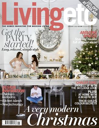 Livingetc, published by IPC Media, is the only interiors magazine in our selection to show a family on the cover.