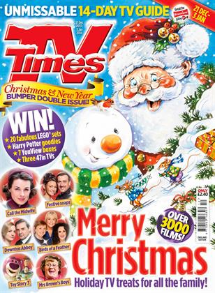 A very merry-looking Santa accompanies the top television picks in listings magazine TV Times (part of IPC Media).