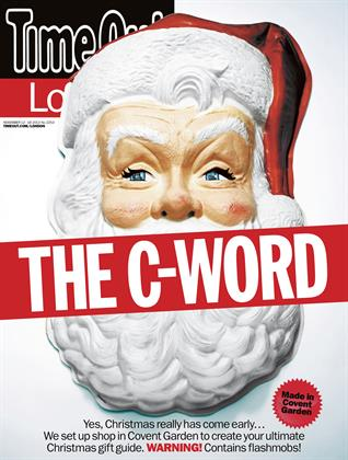 Time Out London offers a cheeky take on the typical Santa covers.