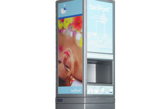 Ad-funded hand-sanitizer unit