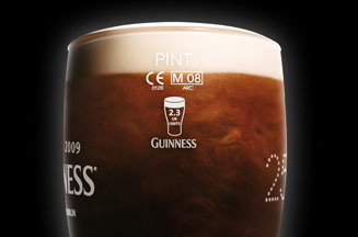 New Guinness glasses