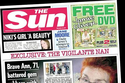 The Sun: returns above three-million circulation mark