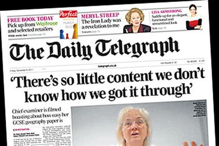 Daily Telegraph: circulation dropped below 600,00 in November