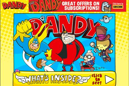 The Dandy website: circulation of print edition has fallen below 8000