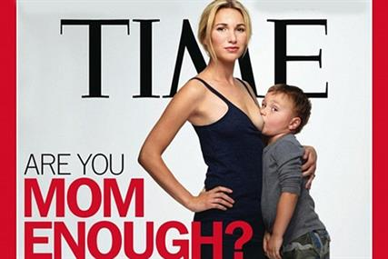 Time shocks readers with breastfeeding image