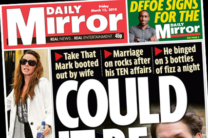 Daily Mirror: benefits from stories of sleaze