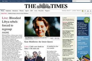 News International reports 119,255 digital subs for The Times