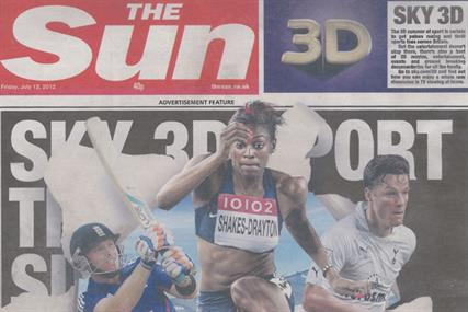 The Sun: appears with its first cover wrap today