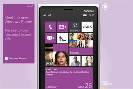 Windows Phone 8: Microsoft links with Marie Claire for ad campaign