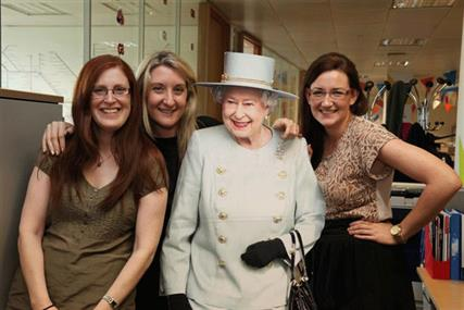 Awesome foursome: The Queen visits CBS Outdoor (well almost)