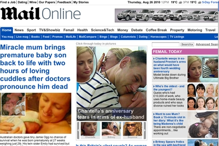 Mail Online: extended its lead in UK newspaper ABCes