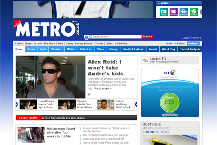 Metro pursues online revenue grab