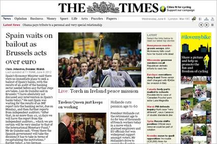 The Times: set to remove paywall on selected dates