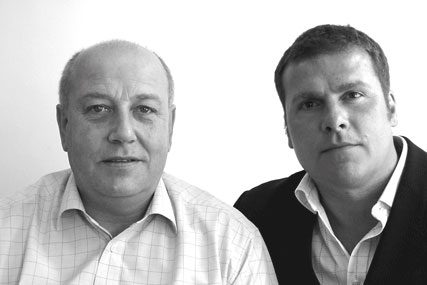 Bill Jones (left), pictured in 2008 with WFCA chief executive Michael Richards, to set up new media agency