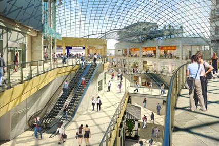 Trinity: artist's impression of the soon to be completed Leeds shopping centre