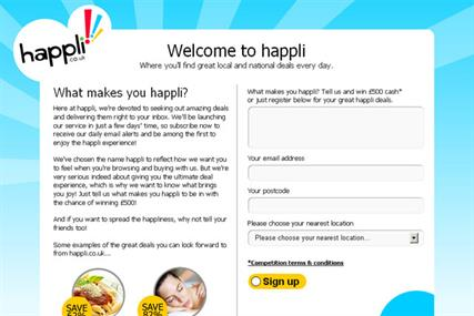 Happli: Trinity Mirror publishes landing page