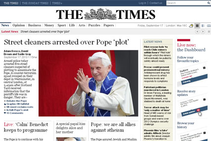 Times Online: welcome to the paywall