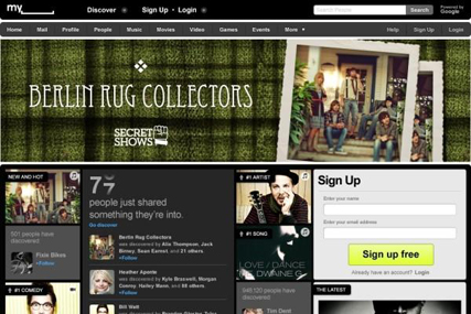 MySpace: relaunches website