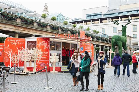 The Post Office targets shoppers in Covent Garden...